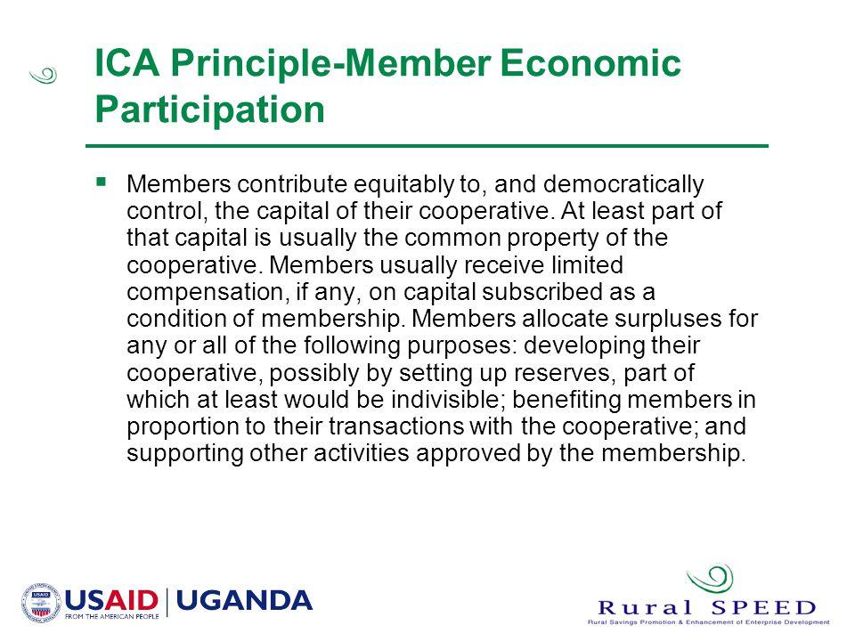 ICA Principle-Member Economic Participation
