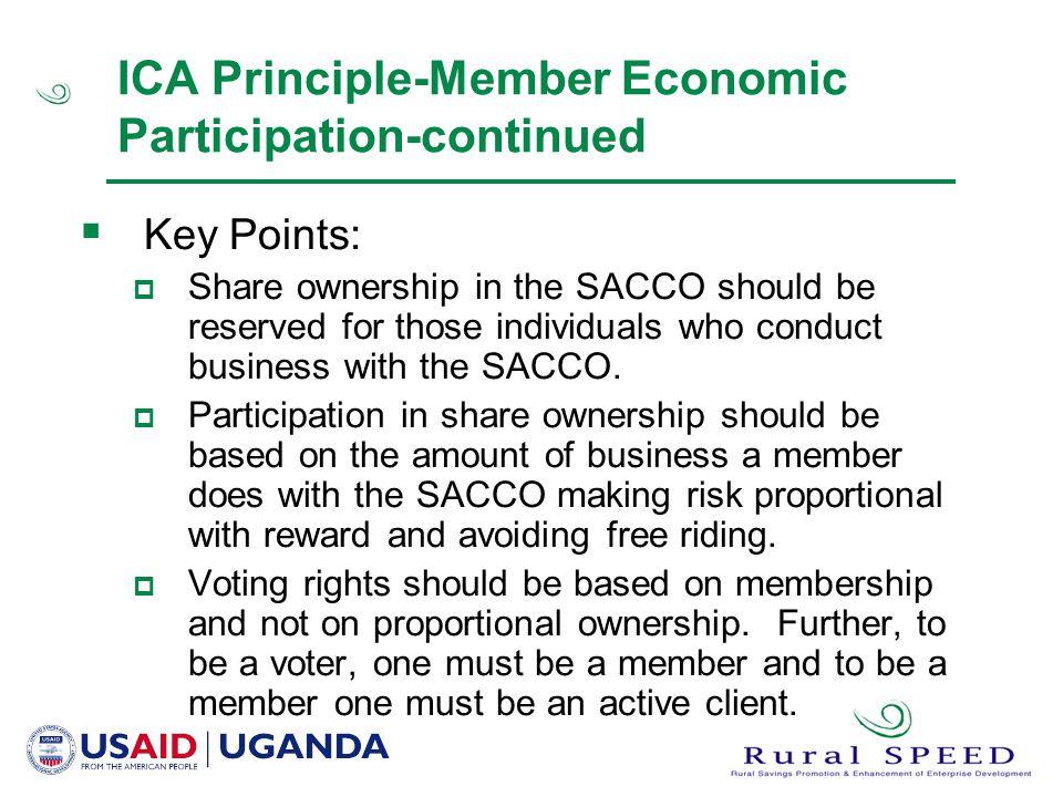 ICA Principle-Member Economic Participation-continued
