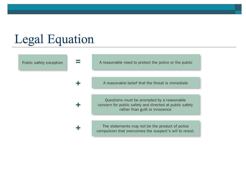 Legal Equation