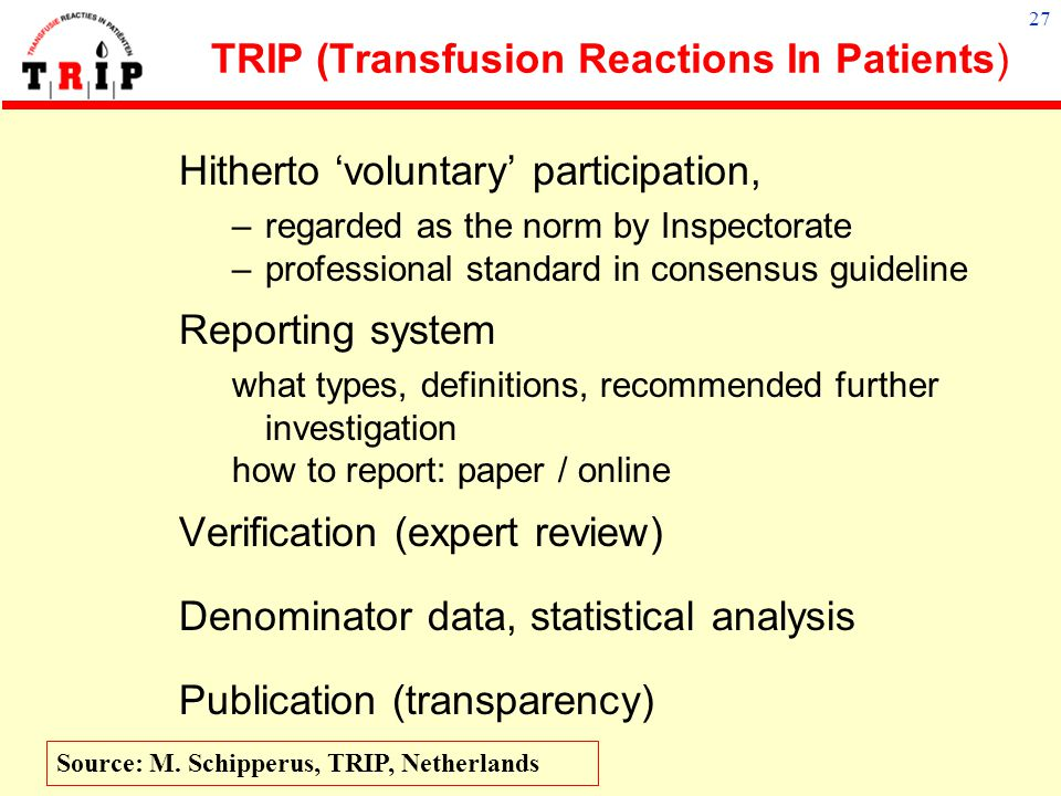 TRIP (Transfusion Reactions In Patients)