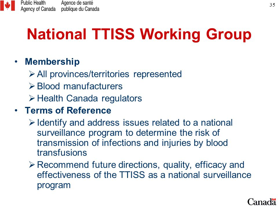 National TTISS Working Group