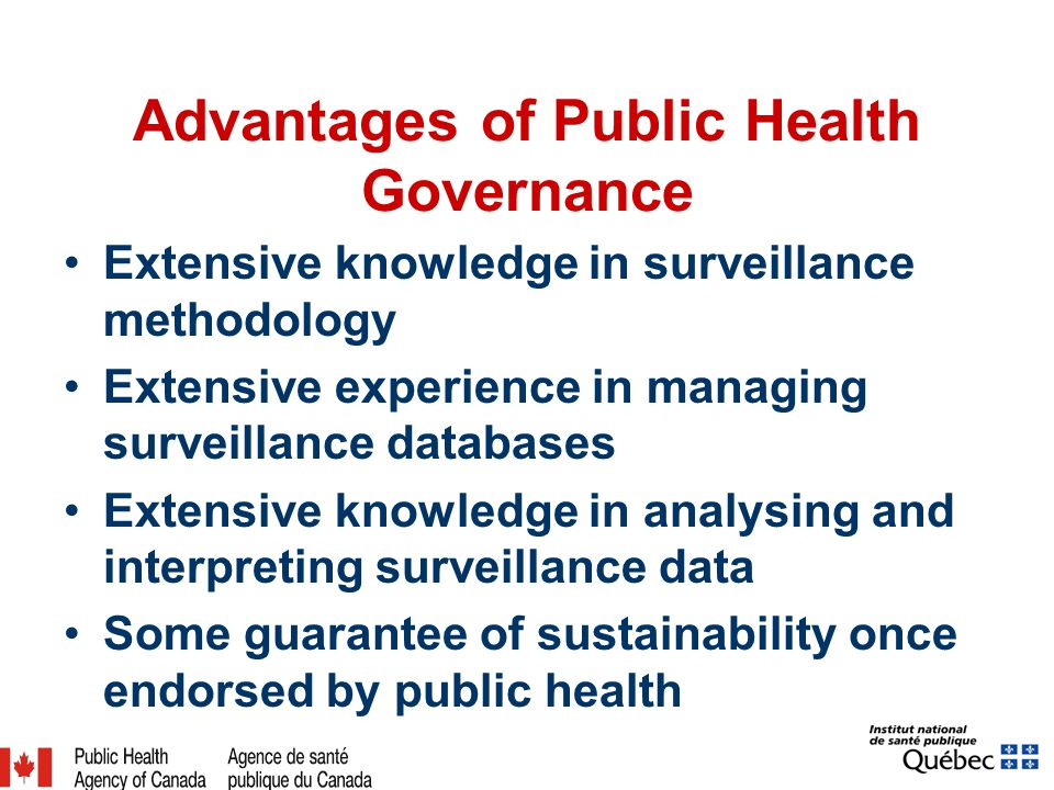 Advantages of Public Health Governance