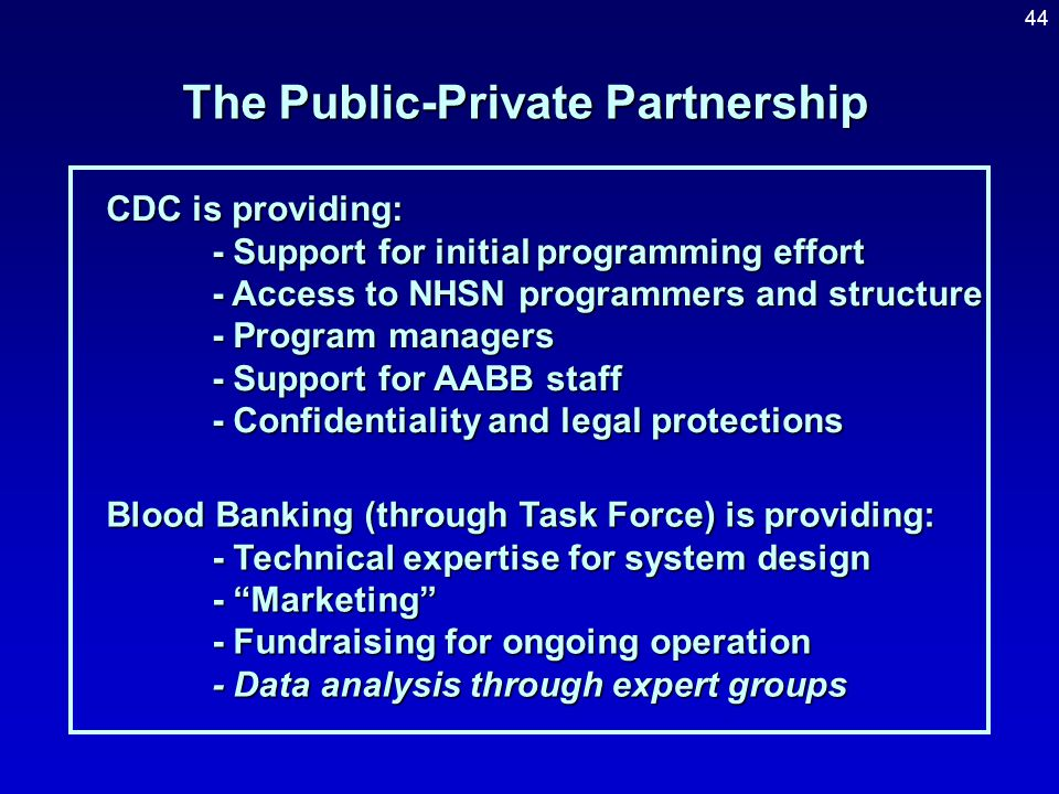 The Public-Private Partnership
