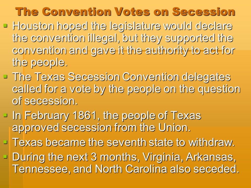 The Convention Votes on Secession