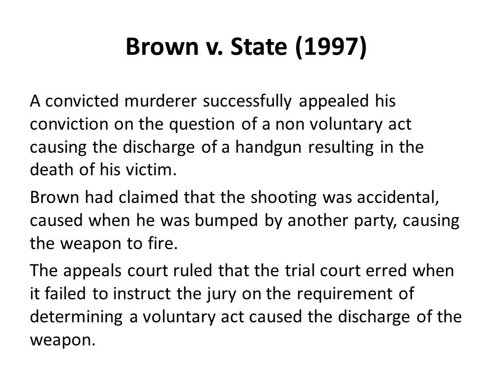 Brown v. State (1997)