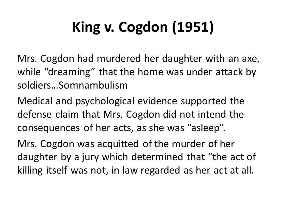 King v. Cogdon (1951)