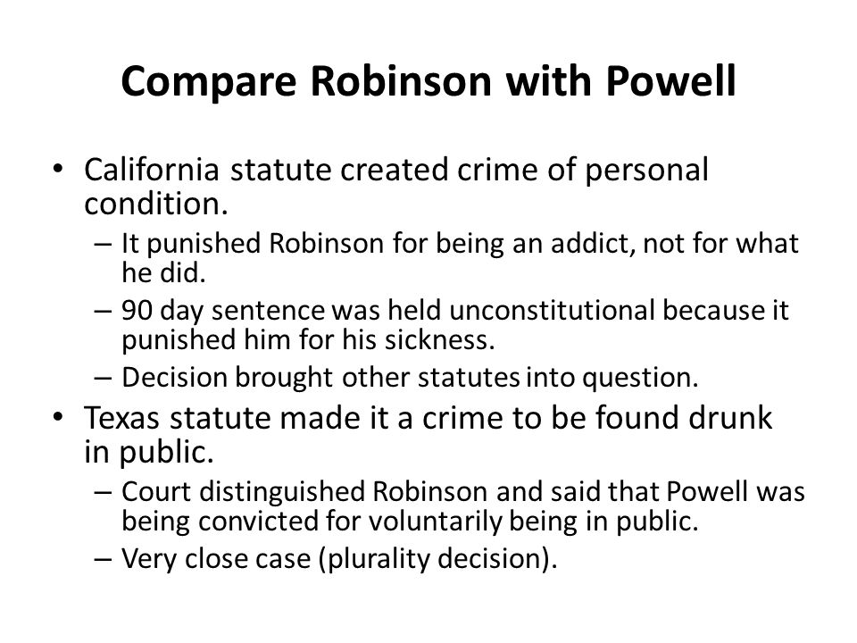 Compare Robinson with Powell