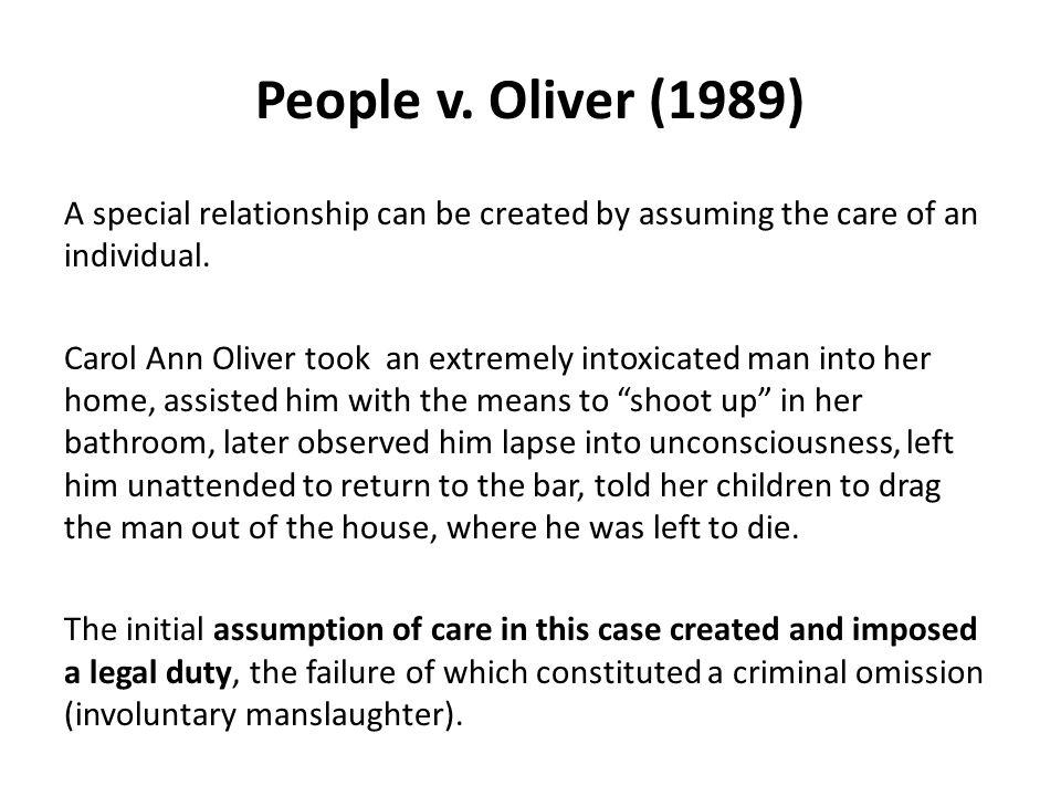People v. Oliver (1989)