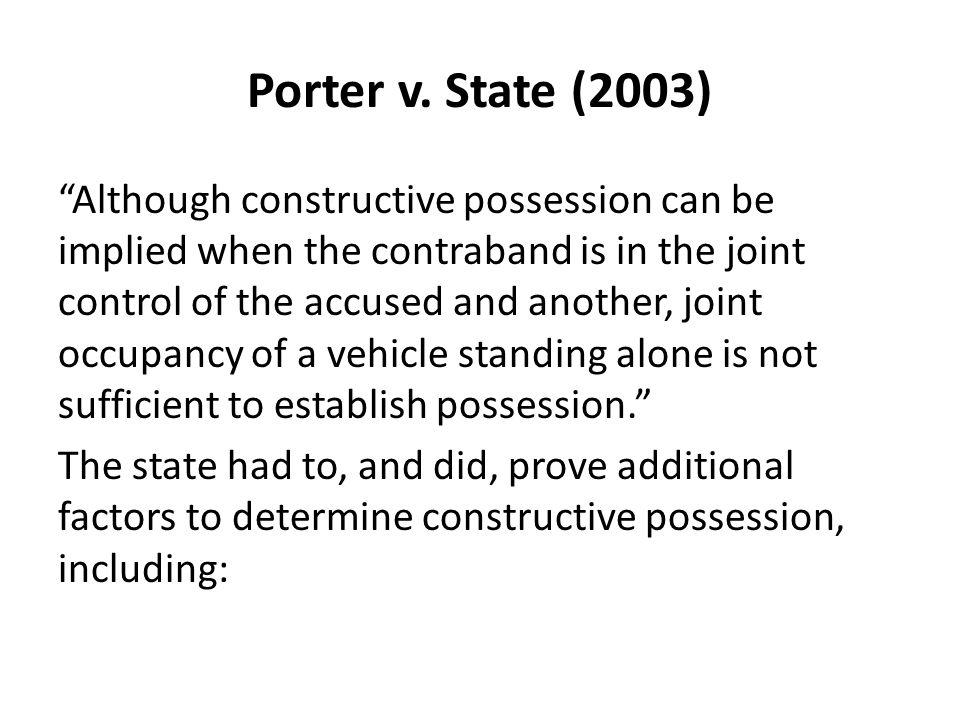 Porter v. State (2003)