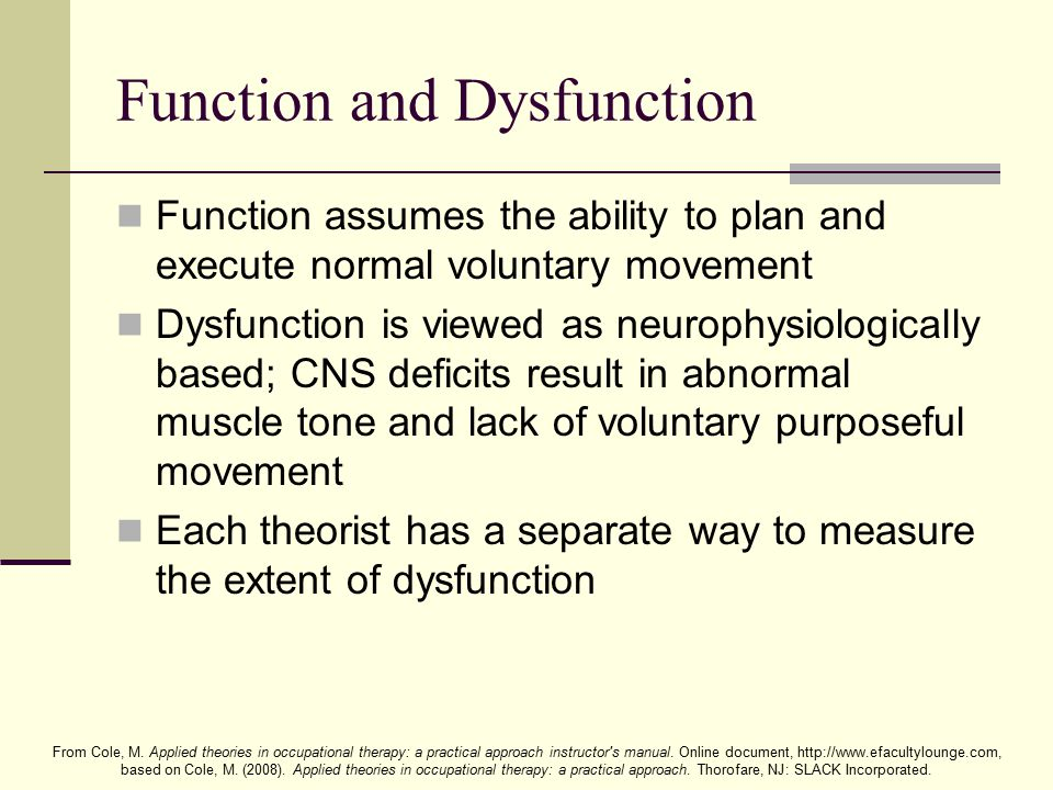 Function and Dysfunction