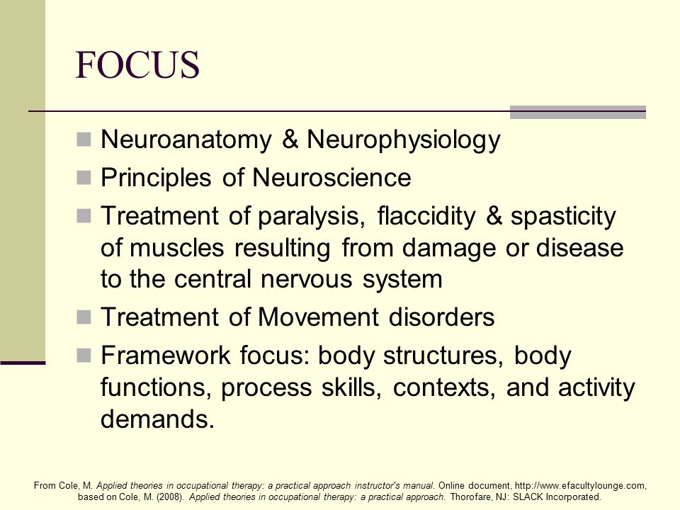 FOCUS Neuroanatomy & Neurophysiology Principles of Neuroscience