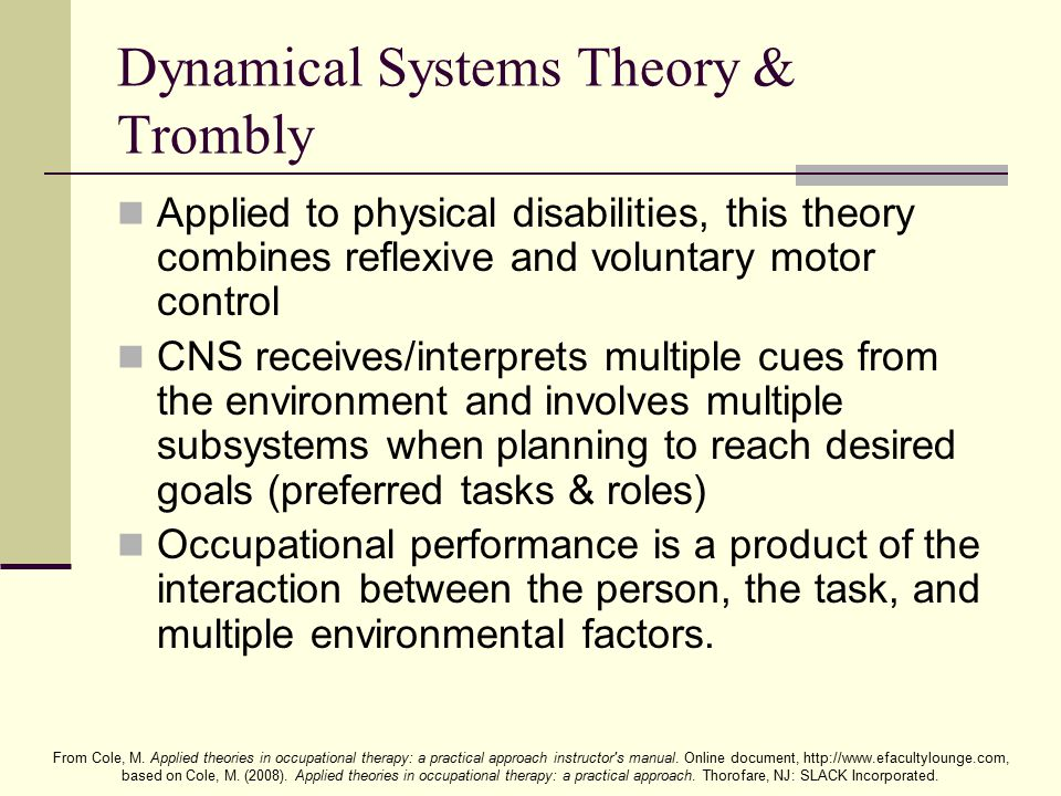 Dynamical Systems Theory & Trombly