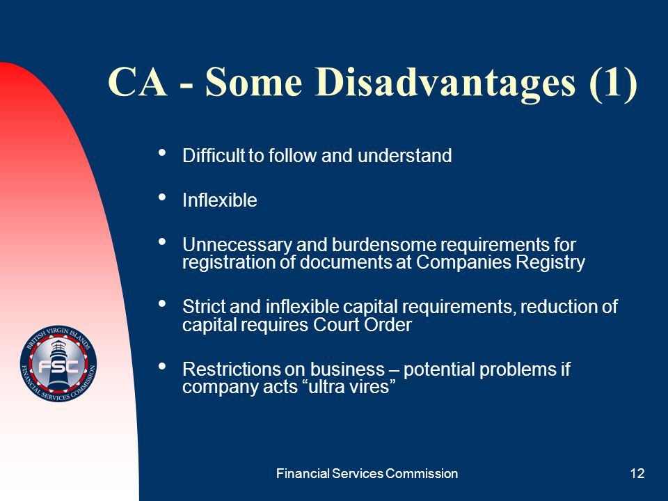 CA - Some Disadvantages (1)