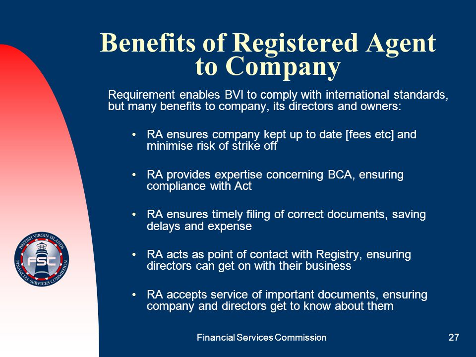Benefits of Registered Agent to Company
