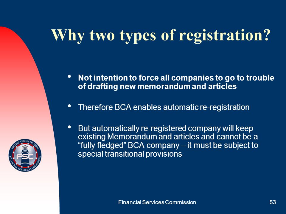 Why two types of registration