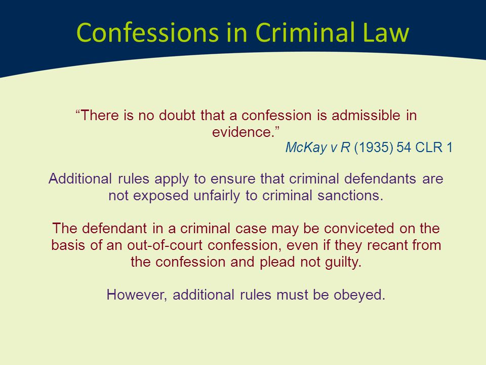 Confessions in Criminal Law