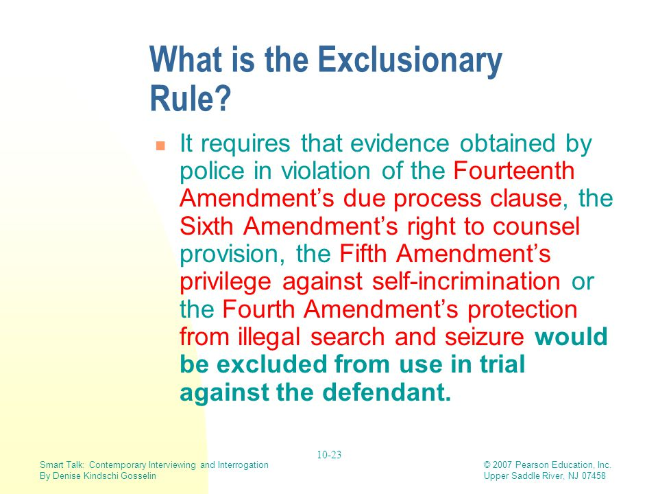 What is the Exclusionary Rule