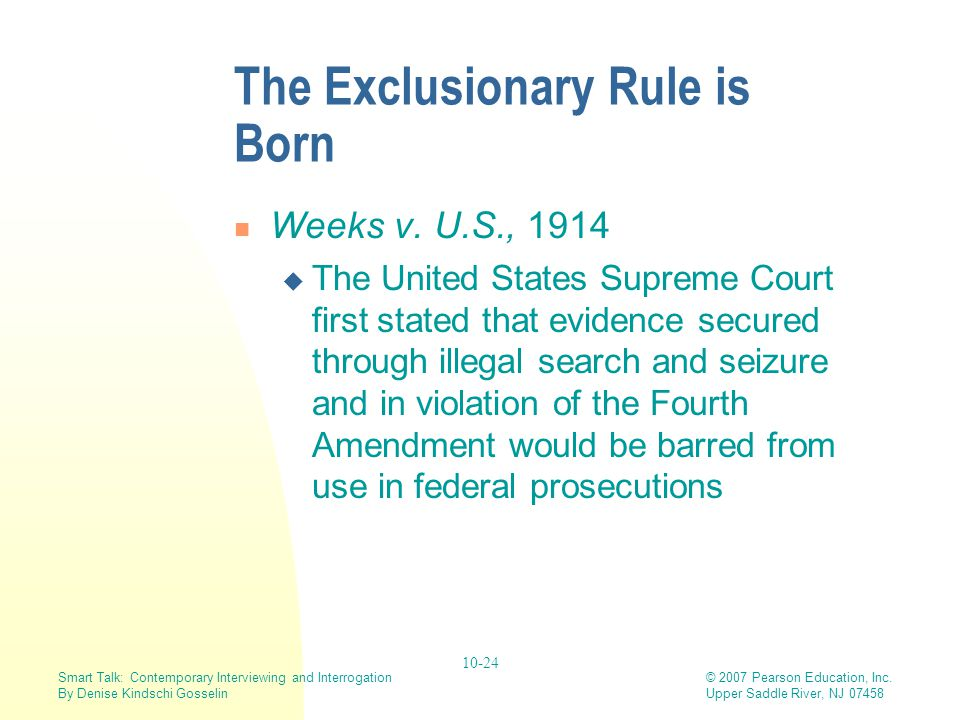 The Exclusionary Rule is Born