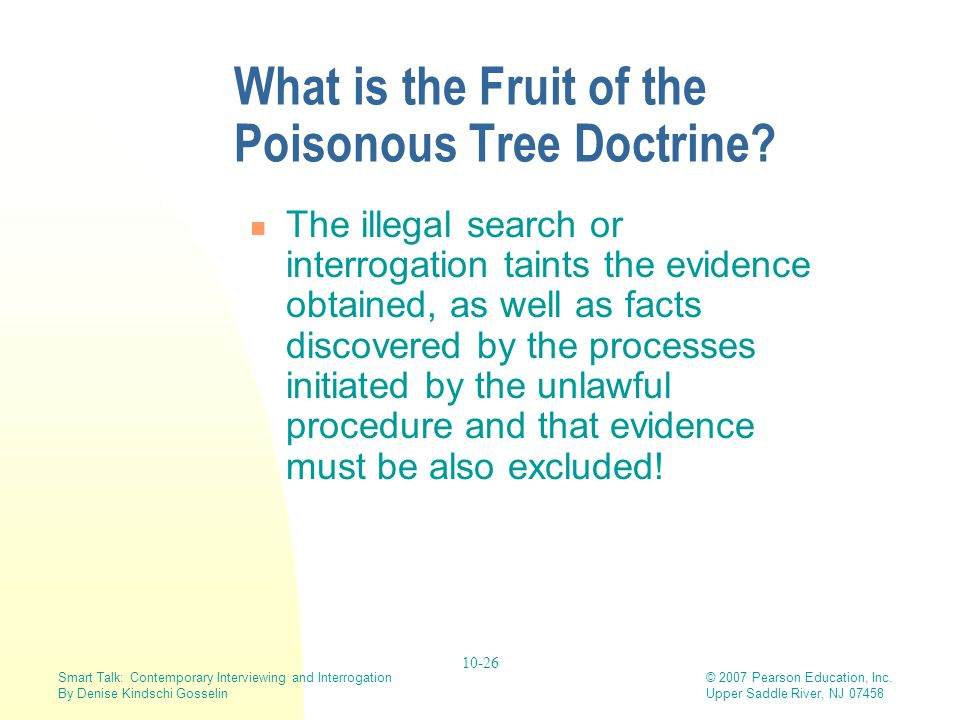 What is the Fruit of the Poisonous Tree Doctrine