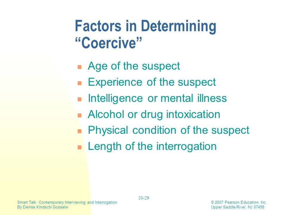 Factors in Determining Coercive