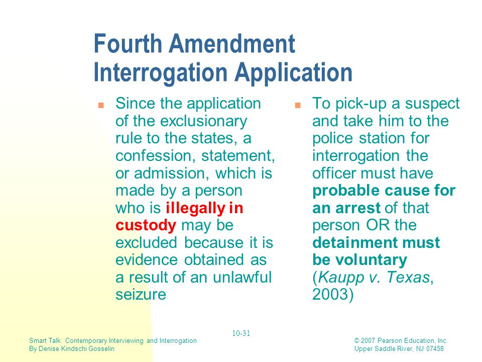 Fourth Amendment Interrogation Application