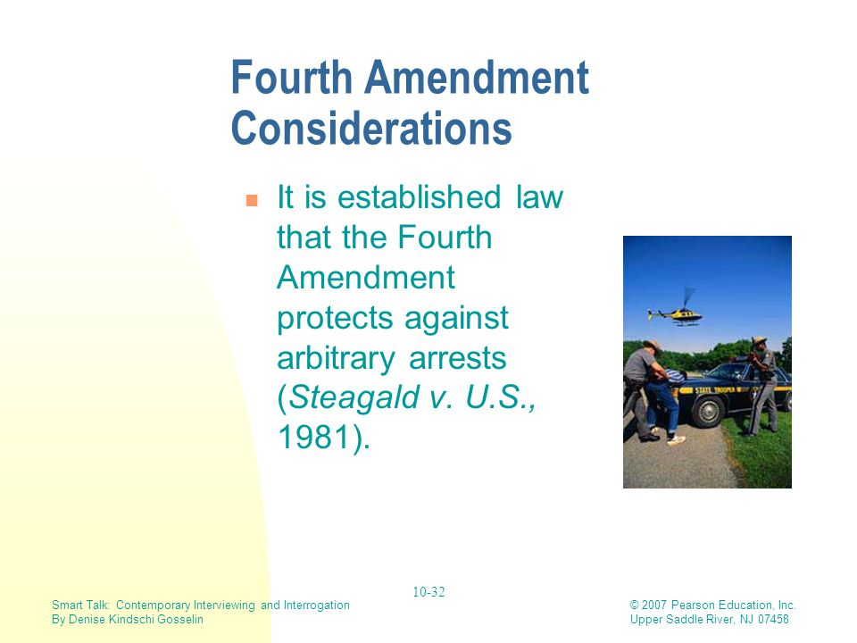 Fourth Amendment Considerations