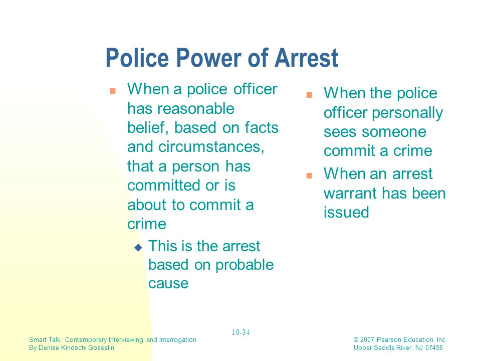 Police Power of Arrest