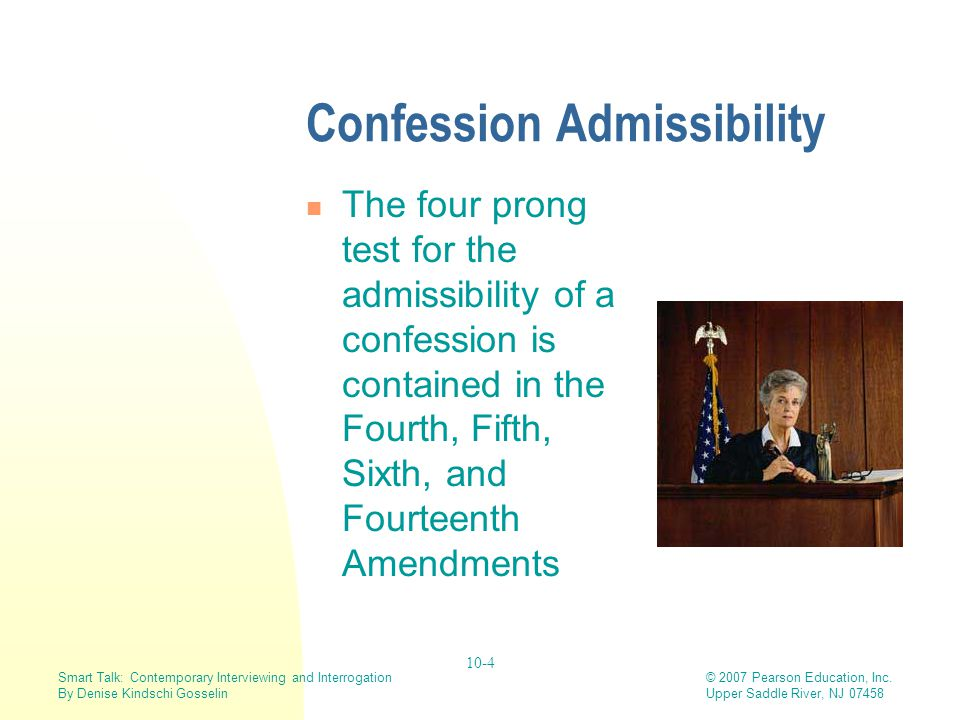 Confession Admissibility