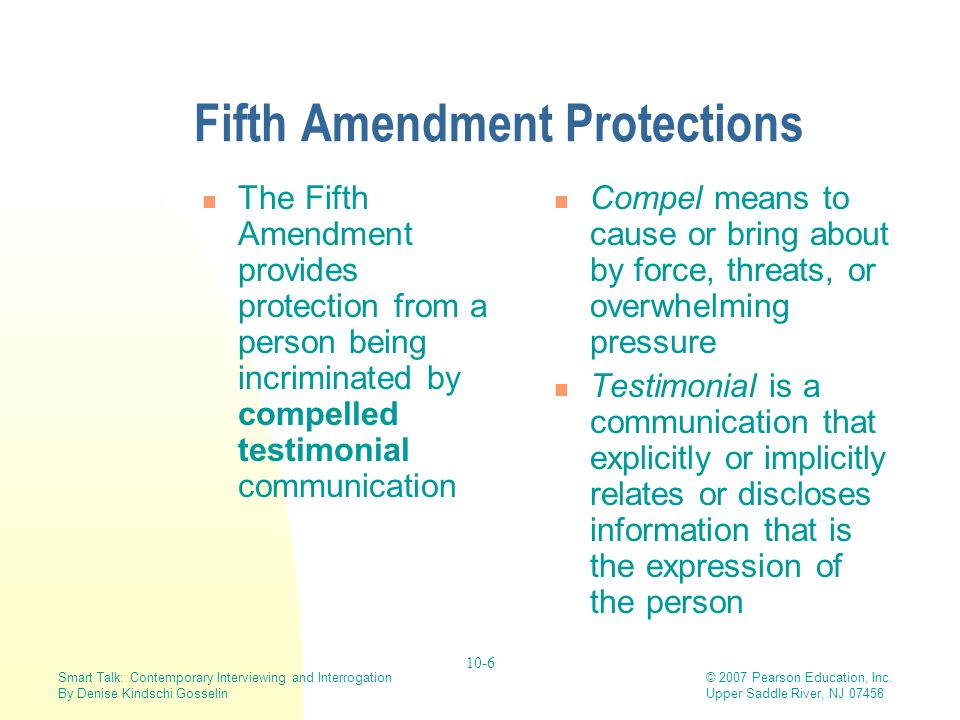 Fifth Amendment Protections