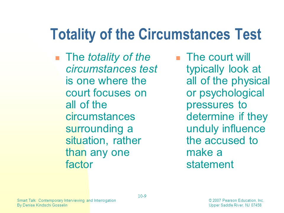 Totality of the Circumstances Test