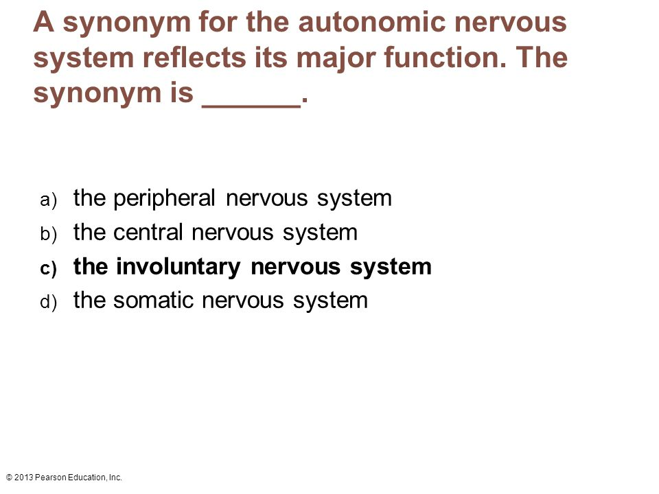 A synonym for the autonomic nervous system reflects its major function