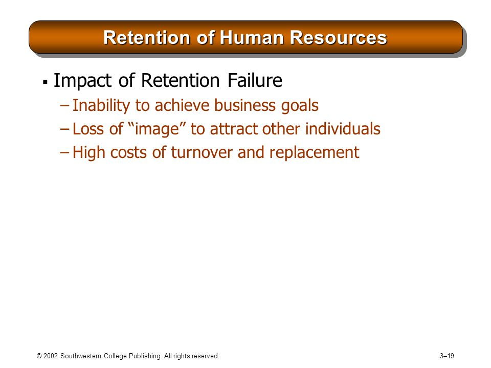 Retention of Human Resources
