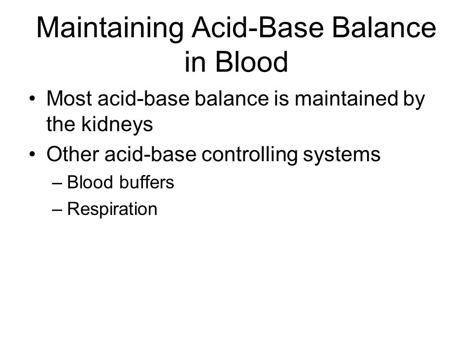 Maintaining Acid-Base Balance in Blood