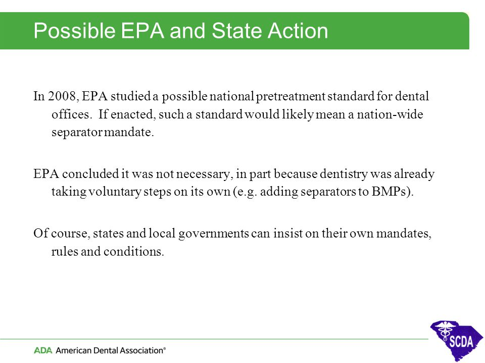 Possible EPA and State Action