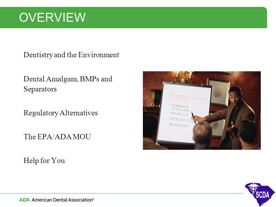 OVERVIEW Dentistry and the Environment