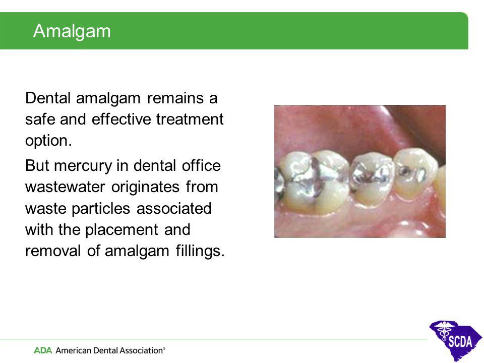 Amalgam Dental amalgam remains a safe and effective treatment option.