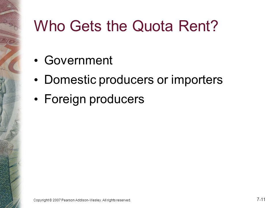 Who Gets the Quota Rent Government Domestic producers or importers