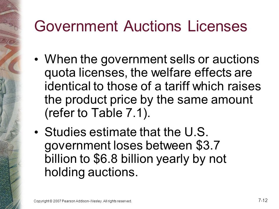 Government Auctions Licenses
