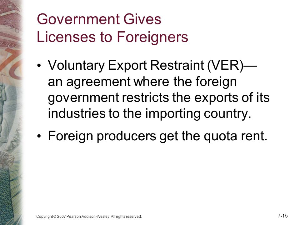 Government Gives Licenses to Foreigners