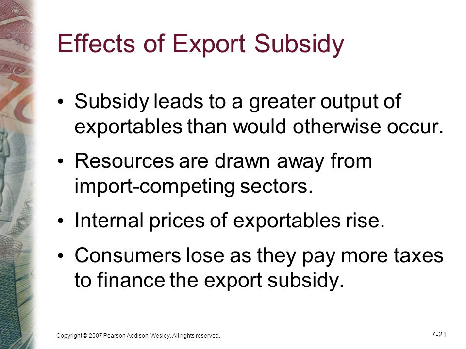 Effects of Export Subsidy