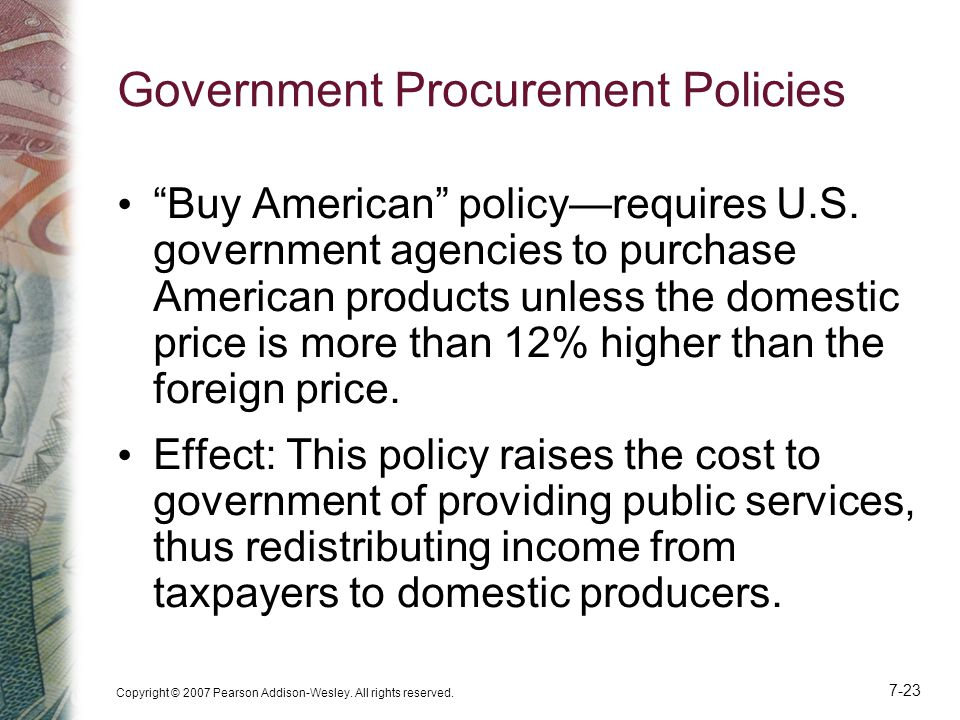 Government Procurement Policies