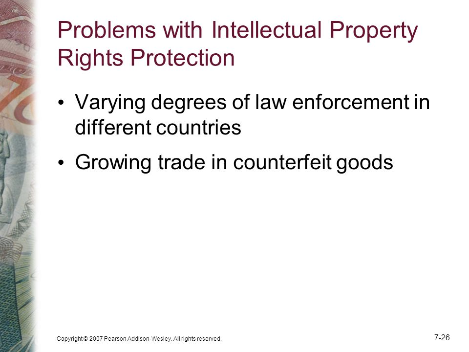 Problems with Intellectual Property Rights Protection