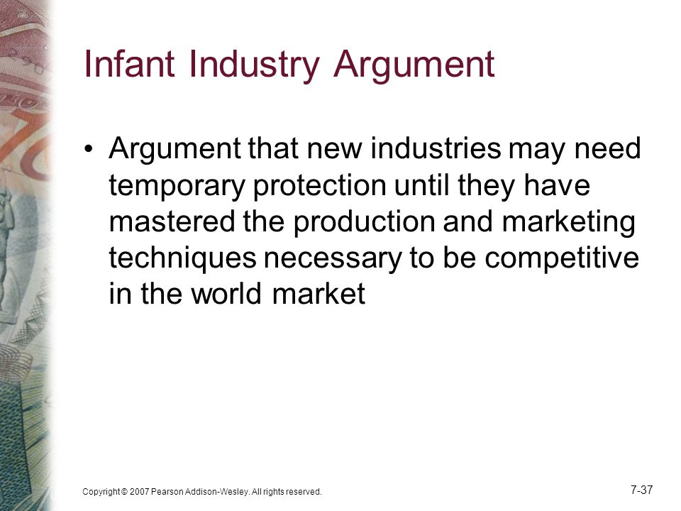 Infant Industry Argument