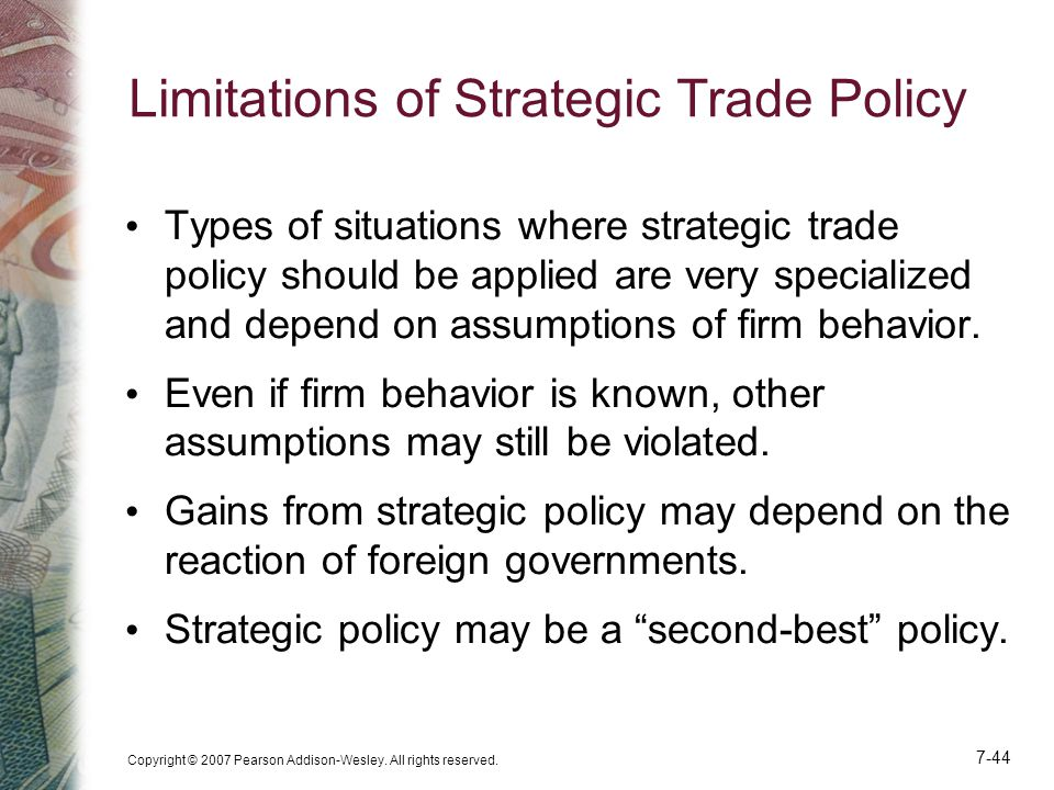 Limitations of Strategic Trade Policy