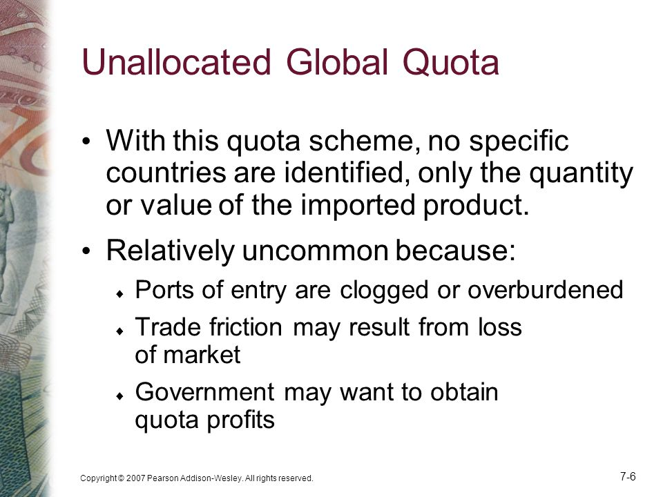 Unallocated Global Quota