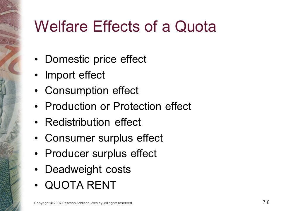 Welfare Effects of a Quota