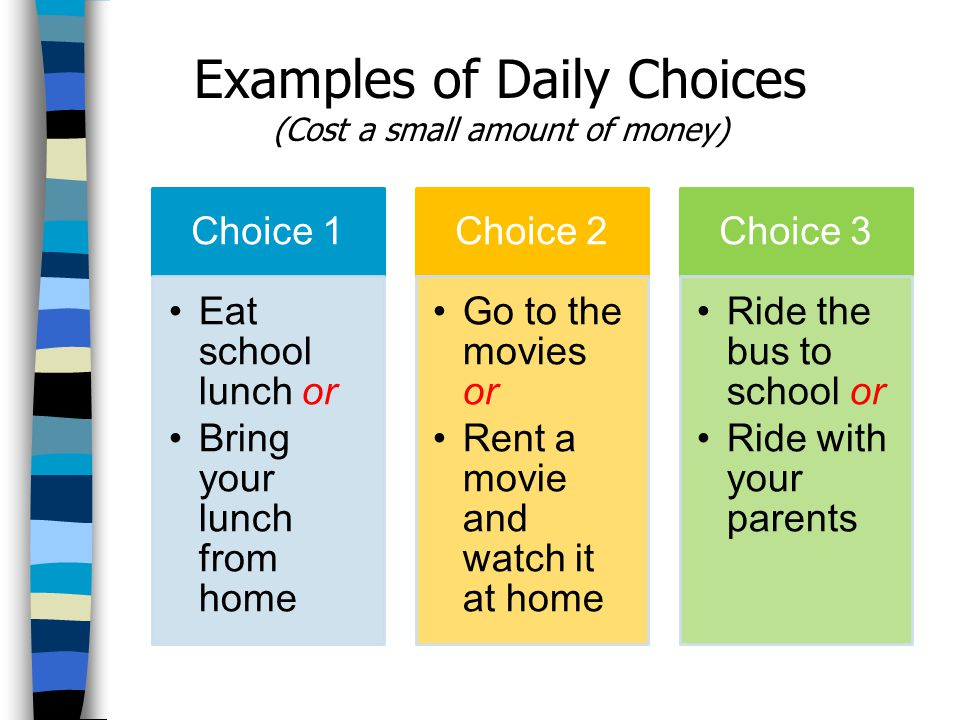 Examples of Daily Choices