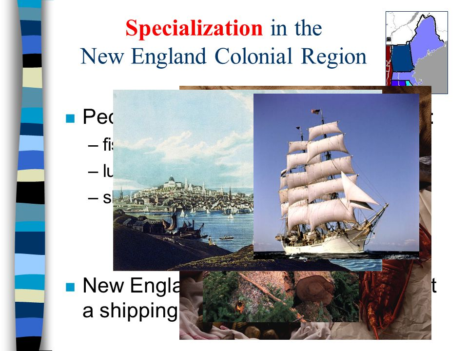 Specialization in the New England Colonial Region