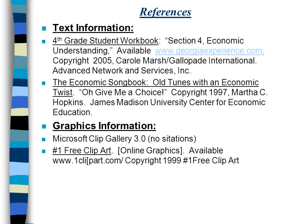 References Text Information: Graphics Information: