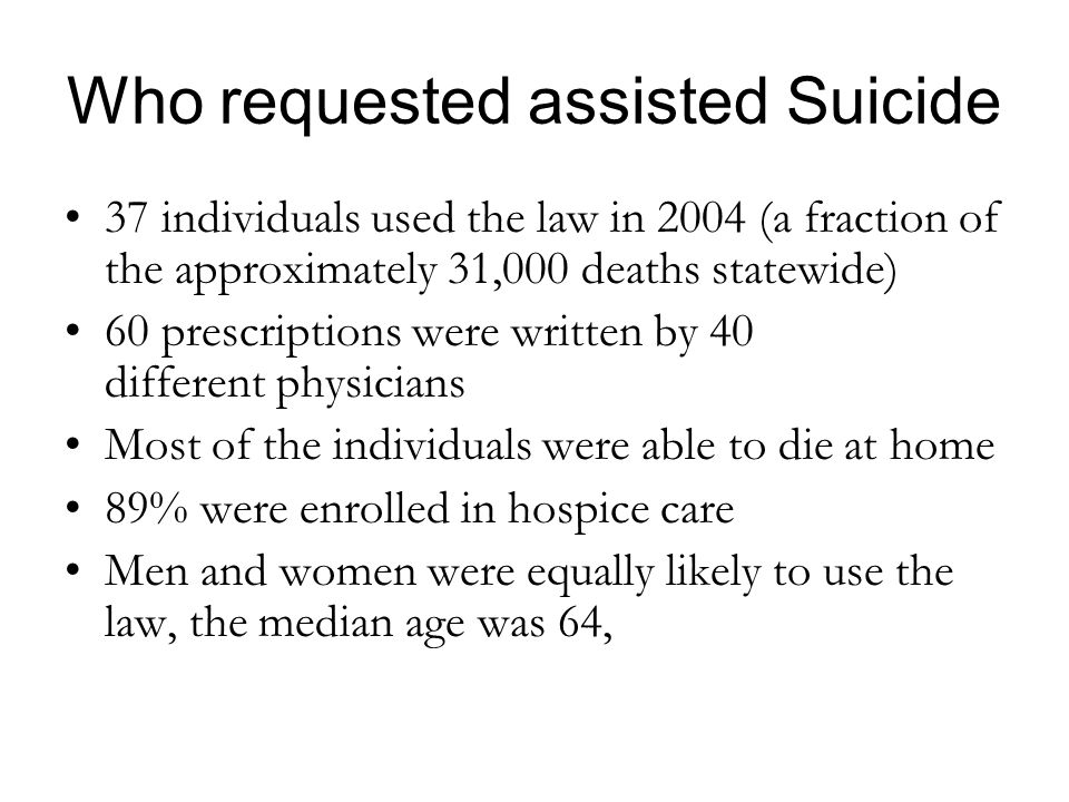 Who requested assisted Suicide
